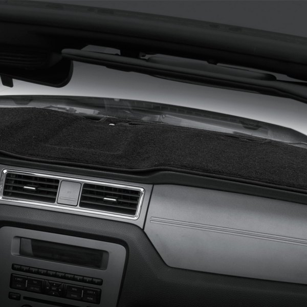 Image may not reflect your exact vehicle! Coverking® - Polycarpet Black Custom Dash Cover