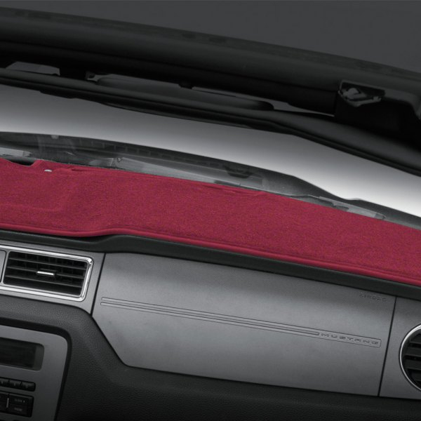 Image may not reflect your exact vehicle! Coverking® - Polycarpet Red Custom Dash Cover