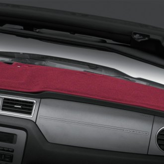 Image may not reflect your exact vehicle! Coverking® - Red Polycarpet Custom Dash Cover