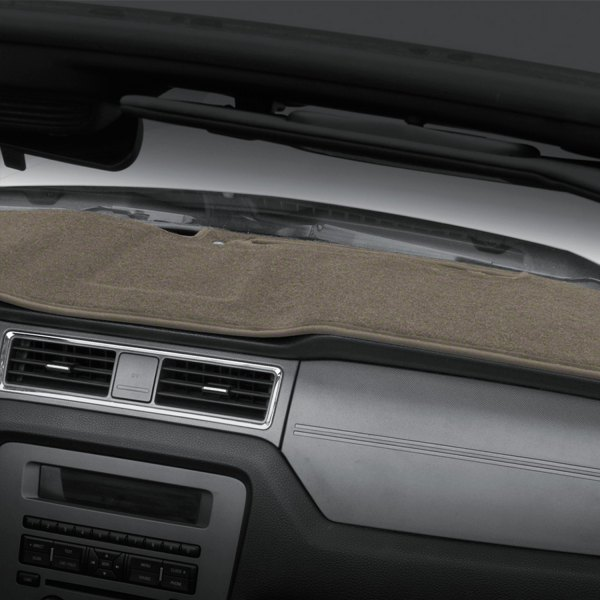 Image may not reflect your exact vehicle! Coverking® - Polycarpet Taupe Custom Dash Cover