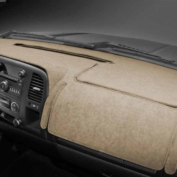 Image may not reflect your exact vehicle! Coverking® - Beige Suede Custom Dash Cover