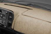 Image may not reflect your exact vehicle! Coverking® - Suede Beige Custom Dash Cover