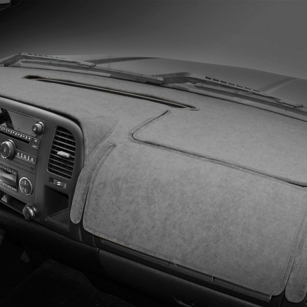 Image may not reflect your exact vehicle! Coverking® - Suede Custom Gray Dash Cover