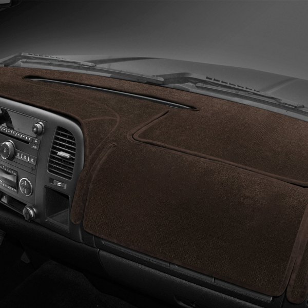 Image may not reflect your exact vehicle! Coverking® - Velour Brown Custom Dash Cover