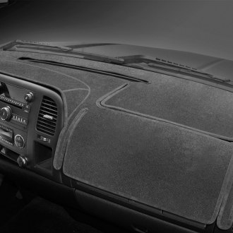 Image may not reflect your exact vehicle! Coverking® - Charcoal Velour Custom Dash Cover