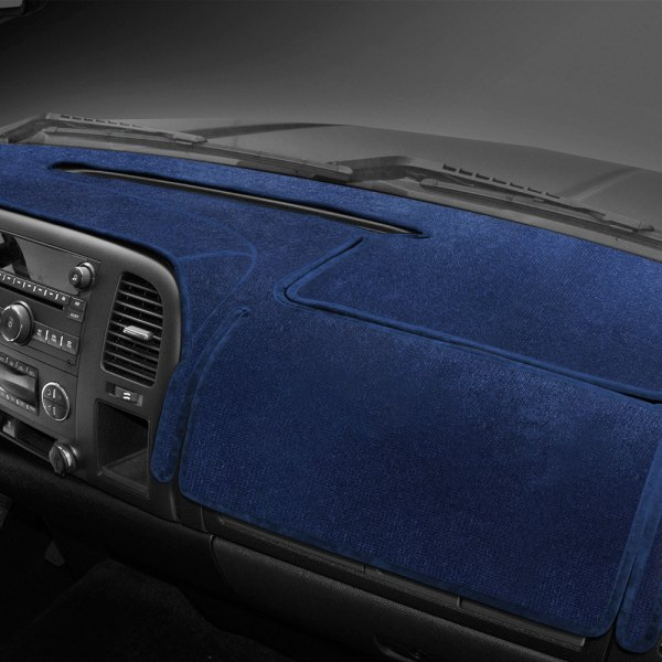 Image may not reflect your exact vehicle! Coverking® - Velour Dark Blue Custom Dash Cover