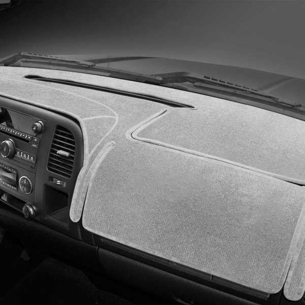 Image may not reflect your exact vehicle! Coverking® - Velour Gray Custom Dash Cover