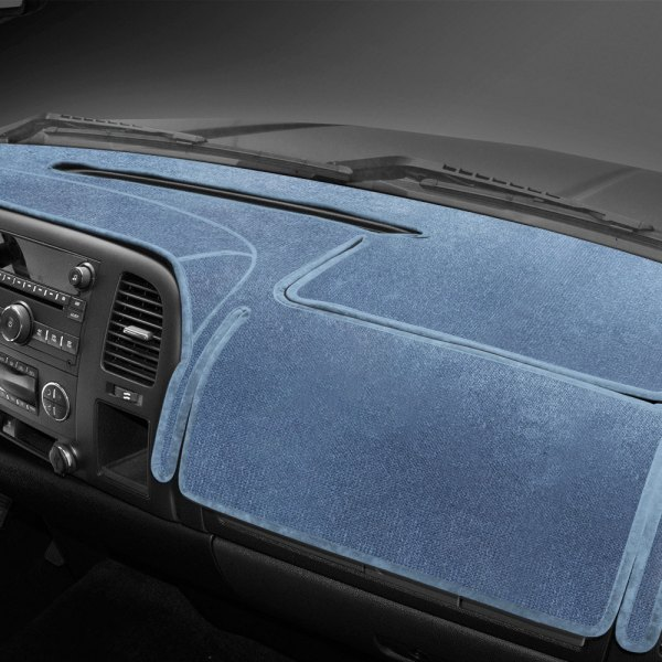 Image may not reflect your exact vehicle! Coverking® - Velour Medium Blue Custom Dash Cover