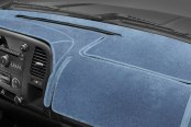 Image may not reflect your exact vehicle! Coverking® - Medium Blue Velour Custom Dash Cover