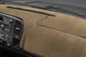 Image may not reflect your exact vehicle! Coverking® - Velour Oak Custom Dash Cover