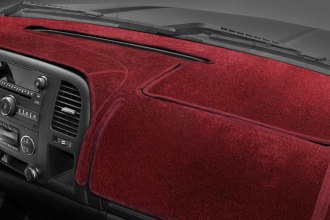 Image may not reflect your exact vehicle! Coverking® - Velour Red Custom Dash Cover