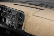 Image may not reflect your exact vehicle! Coverking® - Velour Tan Custom Dash Cover