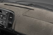 Image may not reflect your exact vehicle! Coverking® - Velour Taupe Custom Dash Cover