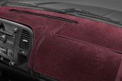 Image may not reflect your exact vehicle! Coverking® - Velour Wine Custom Dash Cover