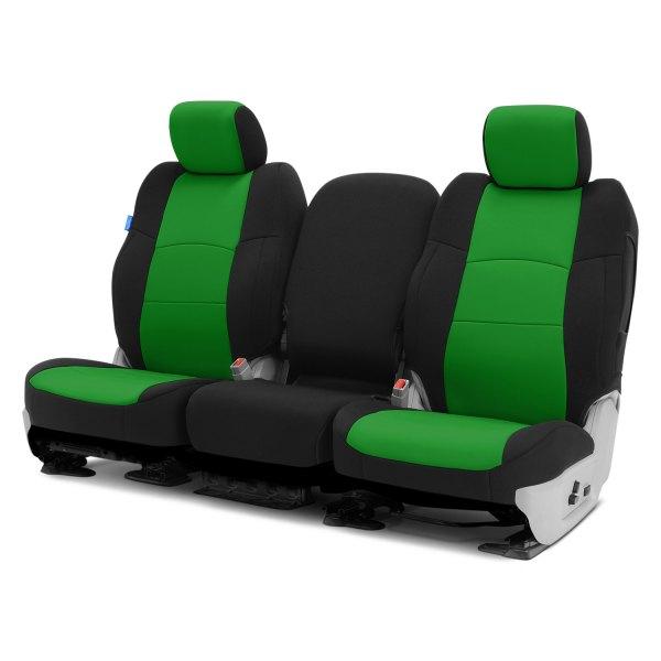 Coverking® - CR-Grade Neoprene 1st Row Black & Synergy Green Custom Seat Covers