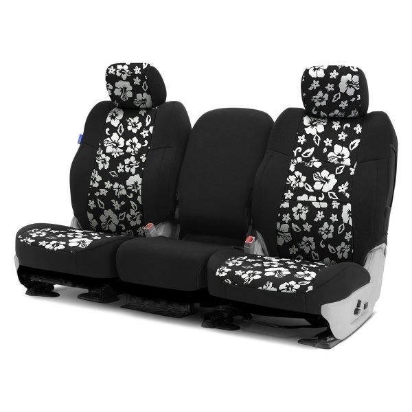 Coverking® - CR-Grade Neoprene 1st Row Black & Hawaiian Black Custom Seat Covers