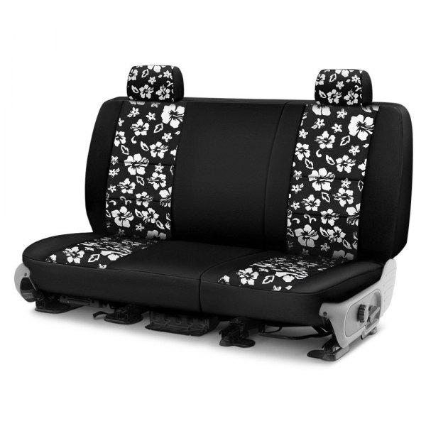 Coverking® - CR-Grade Neoprene 2nd Row Black & Hawaiian Black Custom Seat Covers