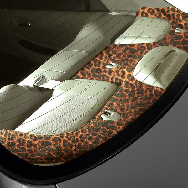 Image may not reflect your exact vehicle! Coverking® - Designer Velour Cheetah Custom Rear Deck Cover