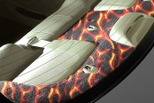 Coverking� - Designer Velour Fire Design Custom Rear Deck Cover