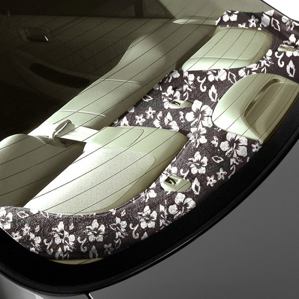 Image may not reflect your exact vehicle! Coverking® - Designer Velour Hawaiian Black Custom Dash Cover