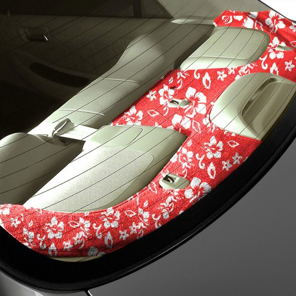 Coverking® - Designer Velour Hawaiian Red Custom Rear Deck Cover