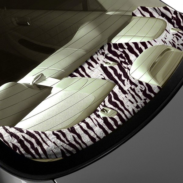 Coverking® - Designer Velour Zebra Custom Rear Deck Cover