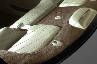 Image may not reflect your exact vehicle! Coverking® - Polycarpet Brown Custom Rear Deck Cover