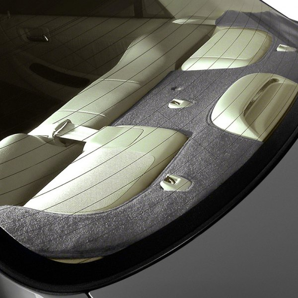 Image may not reflect your exact vehicle! Coverking® - Polycarpet Charcoal Custom Rear Deck Cover