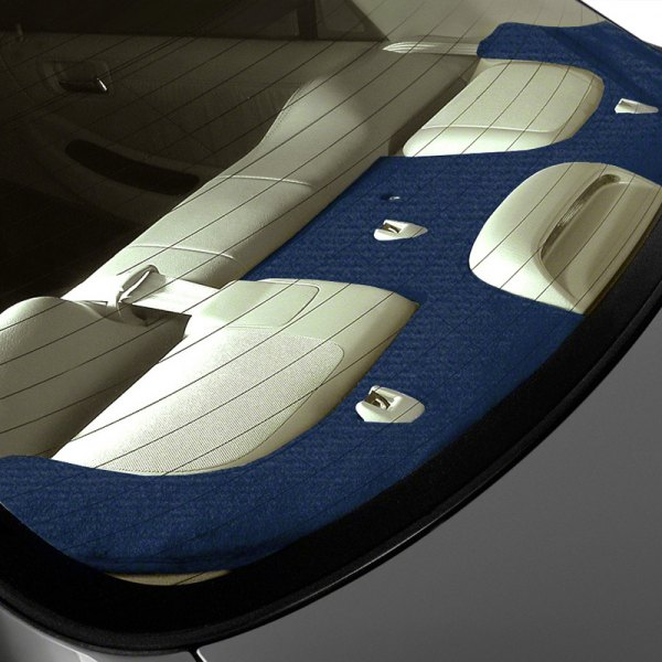 Image may not reflect your exact vehicle! Coverking® - Polycarpet Dark Blue Custom Rear Deck Cover