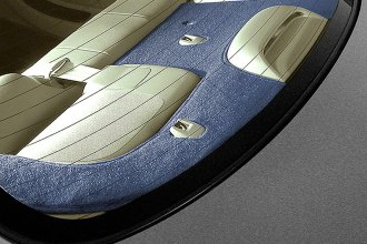 Coverking® CRDP1CH8832 - Black Polycarpet Custom Rear Deck Cover
