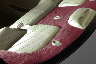 Image may not reflect your exact vehicle! Coverking® - Polycarpet Red Custom Rear Deck Cover