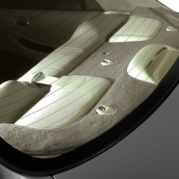 Image may not reflect your exact vehicle! Coverking® - Polycarpet Taupe Custom Rear Deck Cover