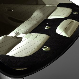 Image may not reflect your exact vehicle! Coverking® - Velour Custom Black Rear Deck Cover