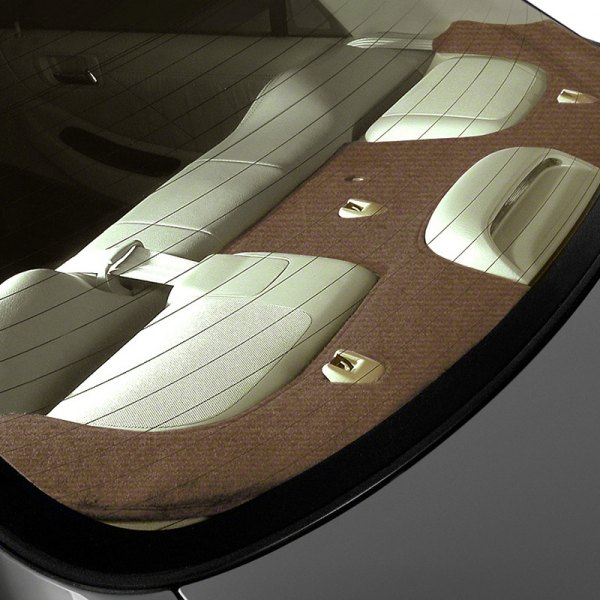 Image may not reflect your exact vehicle! Coverking® - Velour Brown Custom Rear Deck Cover