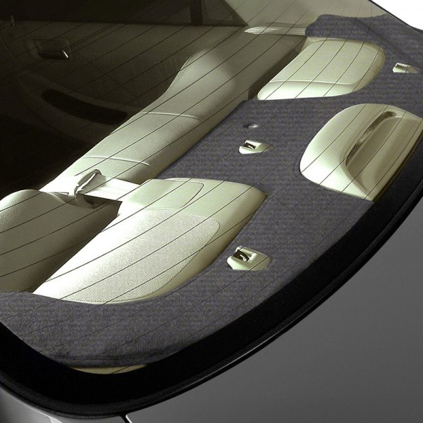Image may not reflect your exact vehicle! Coverking® - Velour Charcoal Custom Rear Deck Cover