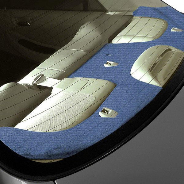Image may not reflect your exact vehicle! Coverking® - Velour Medium Blue Custom Rear Deck Cover