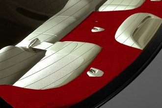 Coverking® CRDV7CH7007 - Red Velour Custom Rear Deck Cover