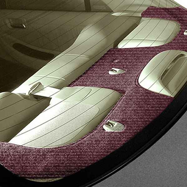 Image may not reflect your exact vehicle! Coverking® - Velour Wine Custom Rear Deck Cover