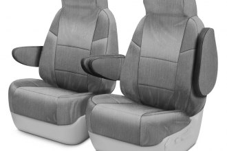 Coverking® MSCSMM03CH8795M - 1st Row Thermoformed Molded Gray Spacer Mesh Custom Seat Covers