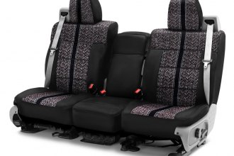 Coverking® - Saddleblanket 1st Row Black Custom Seat Cover