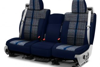 Coverking® - Saddleblanket 1st Row Dark Blue Custom Seat Cover