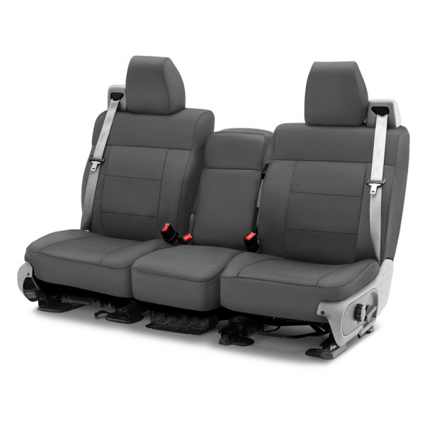 Coverking® - Cordura Ballistic 1st Row Charcoal Gray Custom Seat Cover