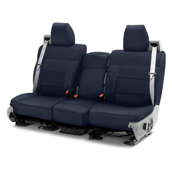 Coverking® - Polycotton Drill 1st Row Navy Blue Custom Seat Cover