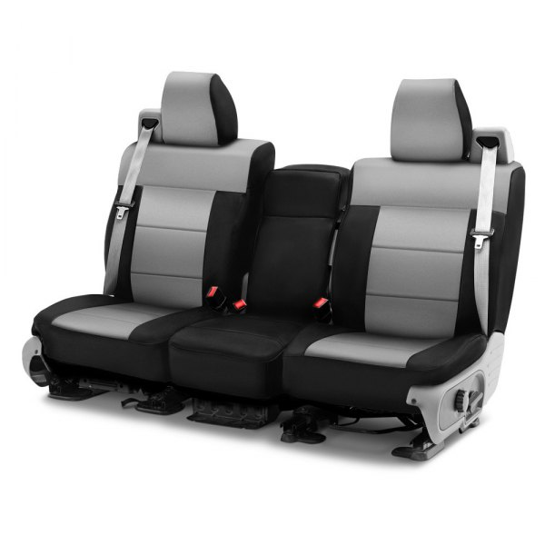 Coverking® - Neosupreme 1st Row Black & Gray Custom Seat Cover