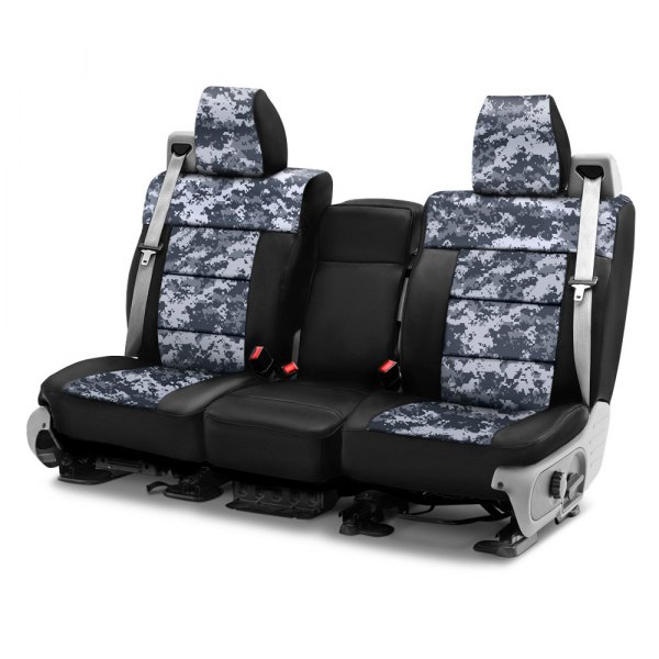 Coverking® - Digital 1st Row Two-Tone Urban Custom Seat Covers