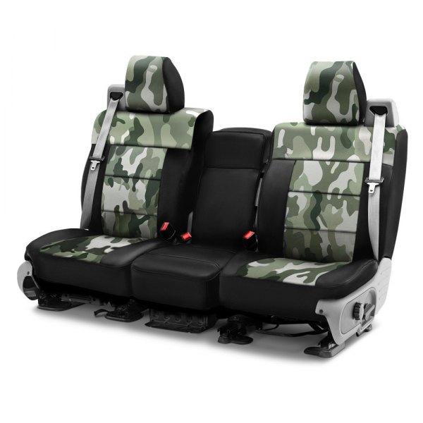 Coverking® - Traditional 1st Row Two-Tone Jungle Custom Seat Covers