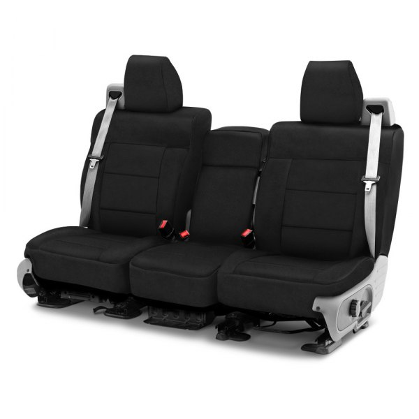 Coverking® - Suede 1st Row Black Custom Seat Cover