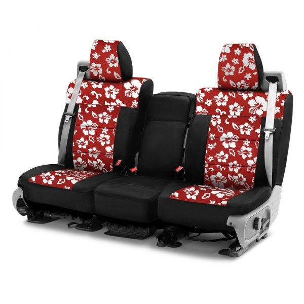 Coverking® - CR-Grade Neoprene 1st Row Black & Hawaiian Red Custom Seat Cover
