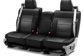 Coverking® - Premium Leatherette 2nd Row Black & Charcoal Custom Seat Cover