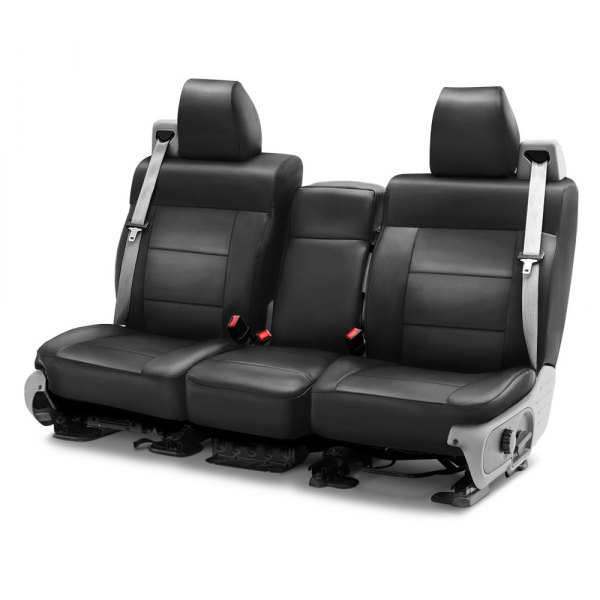 Coverking® - Leatherette 1st Row Charcoal Custom Seat Cover